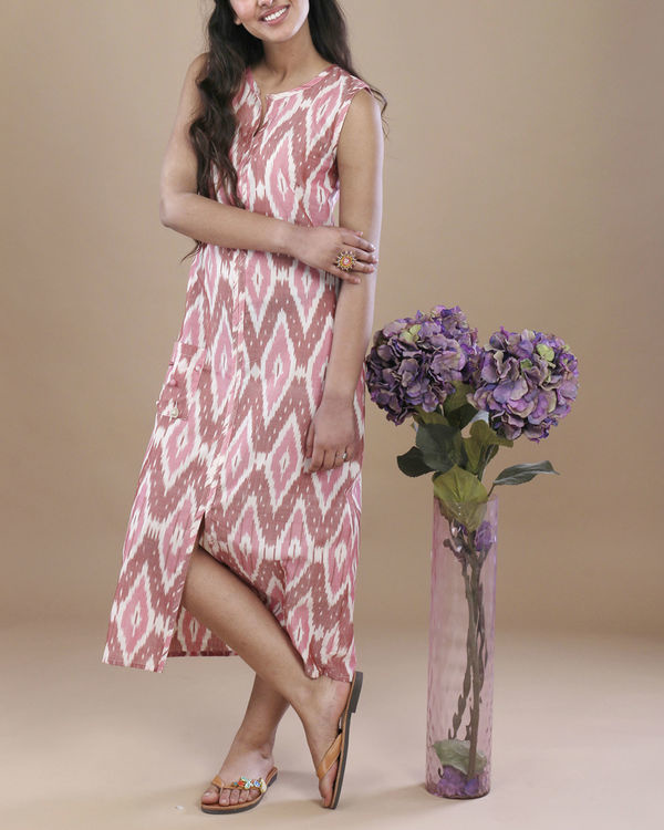 Blush ikat pocket dress 1
