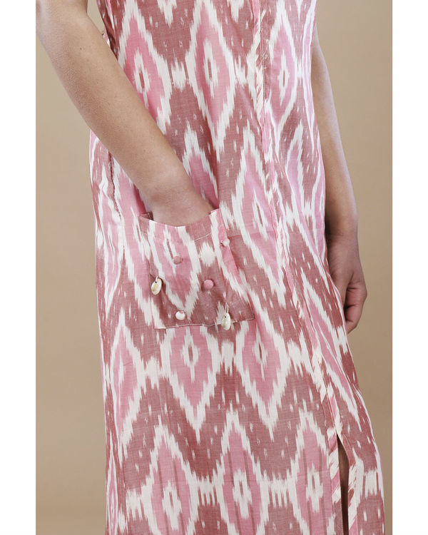 Blush ikat pocket dress 2