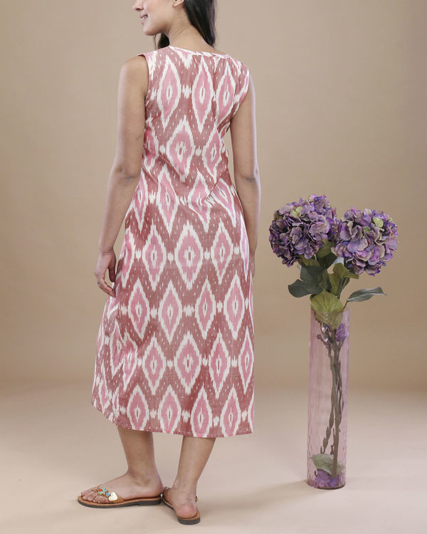 Blush ikat pocket dress 3