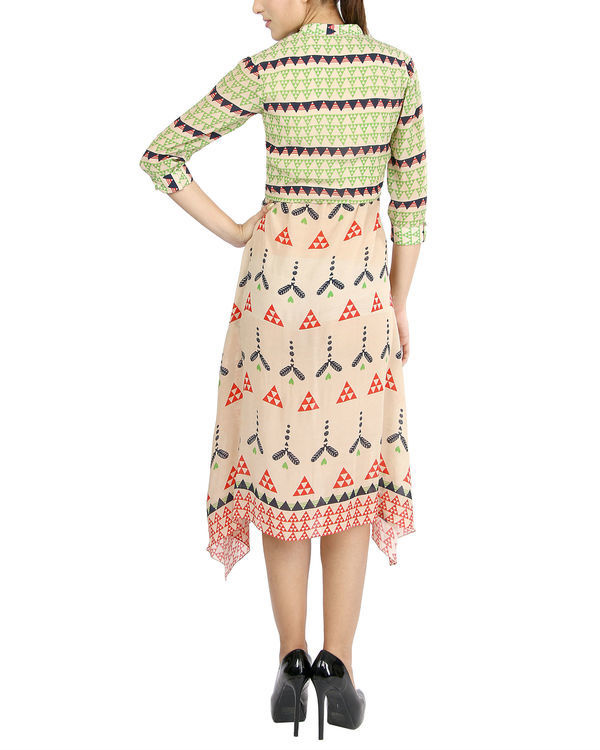 Dual print handkerchief dress 1