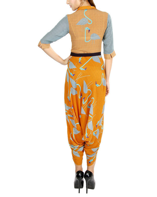 Orange flamingo jumpsuit 1