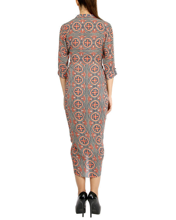 Printed tassel dhoti dress 1