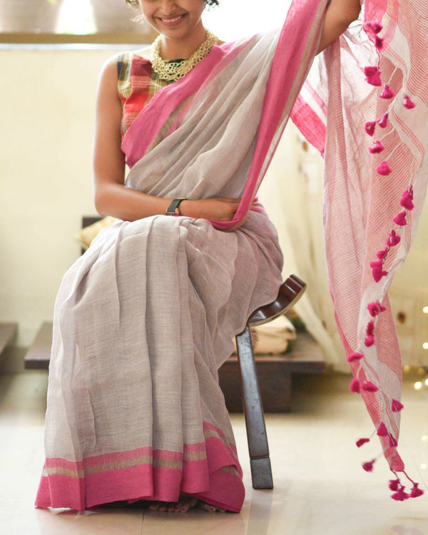 Lightening and pink sari 1