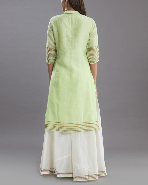 Pistachio and gold kurta 2