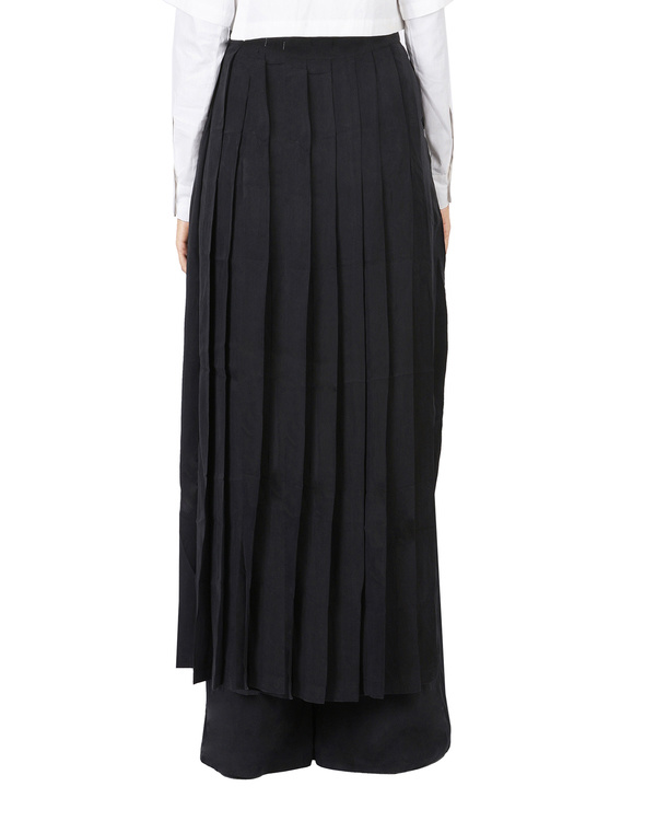 Black pleated wrap skirt 2