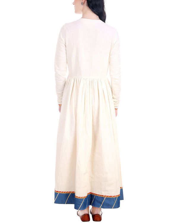 Off white denim border maxi 2