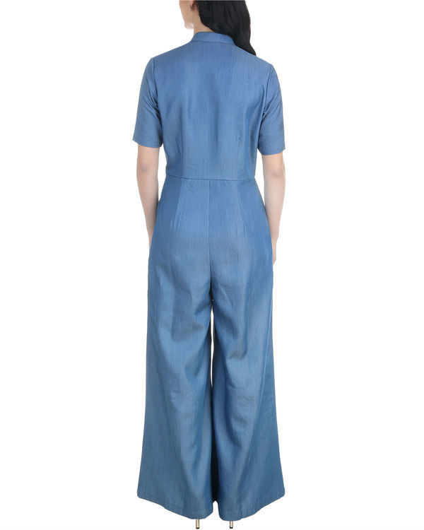 Denim buttoned jumpsuit 1