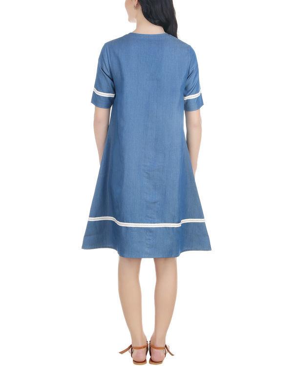 A line neck tassel dress 2