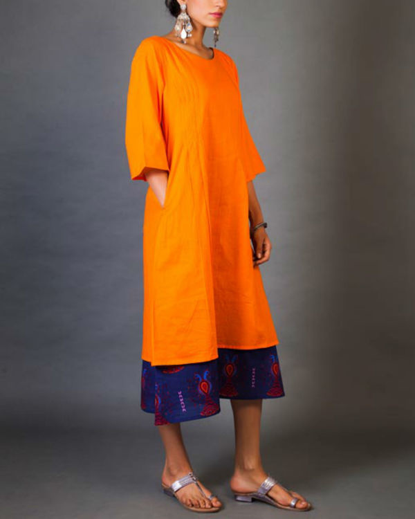 Tangerine faux layer dress 1