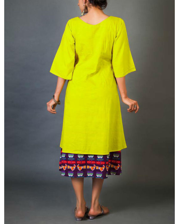 Citrus faux layered dress 2