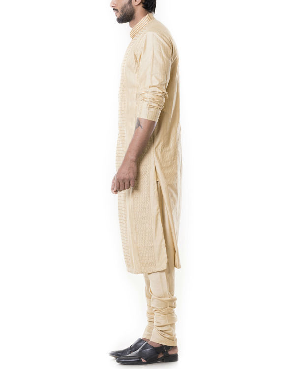 Sherwood tan pintucks kurta set 1