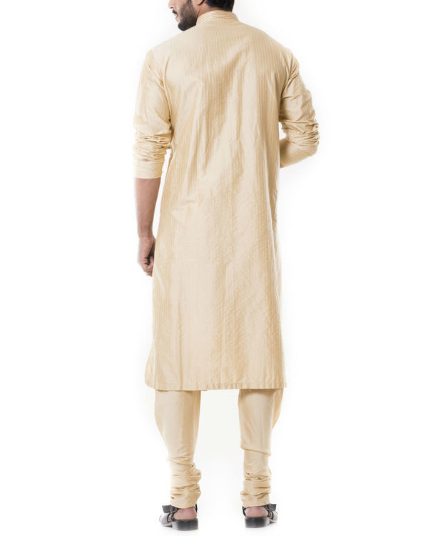 Sherwood tan pintucks kurta set 3