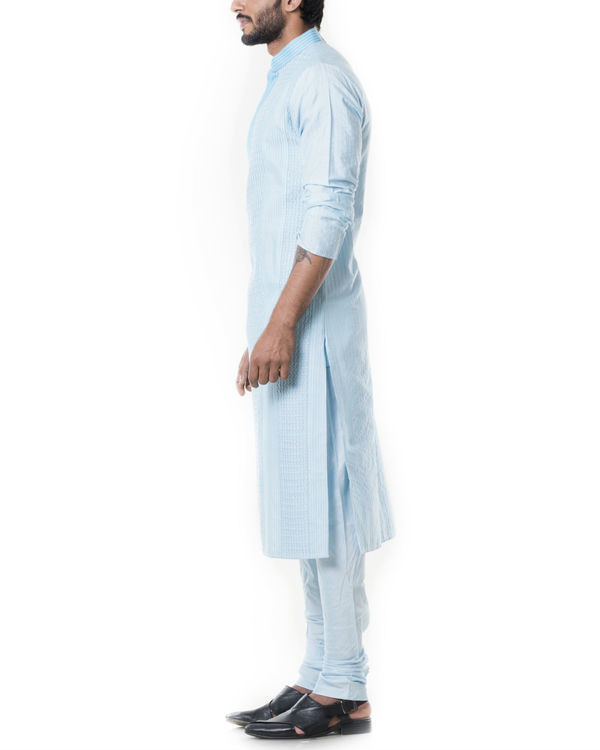 Blue pintucks kurta set 1