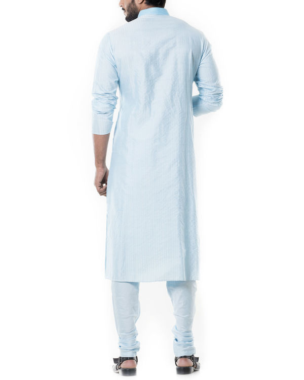 Blue pintucks kurta set 3