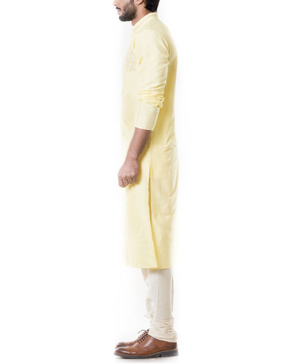 Lime yellow kurta set 1