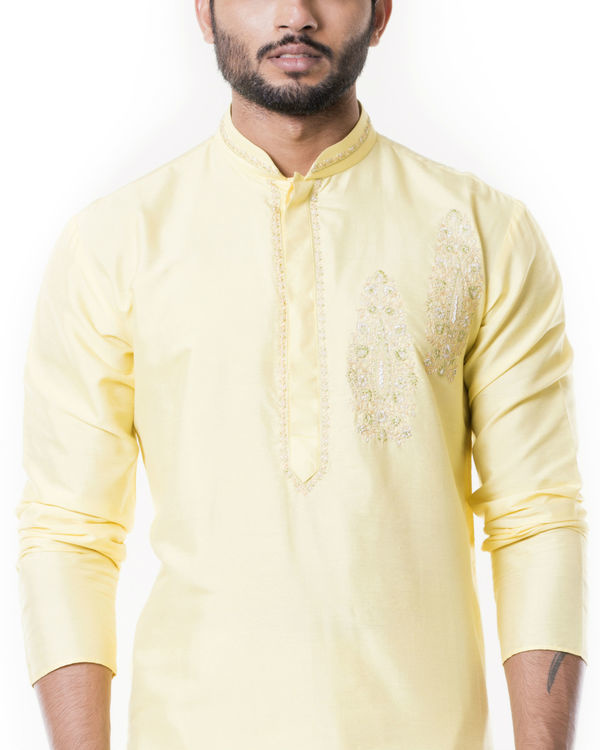 Lime yellow kurta set 2