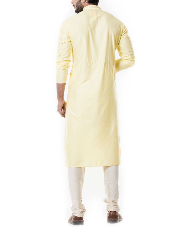 Lime yellow kurta set 3