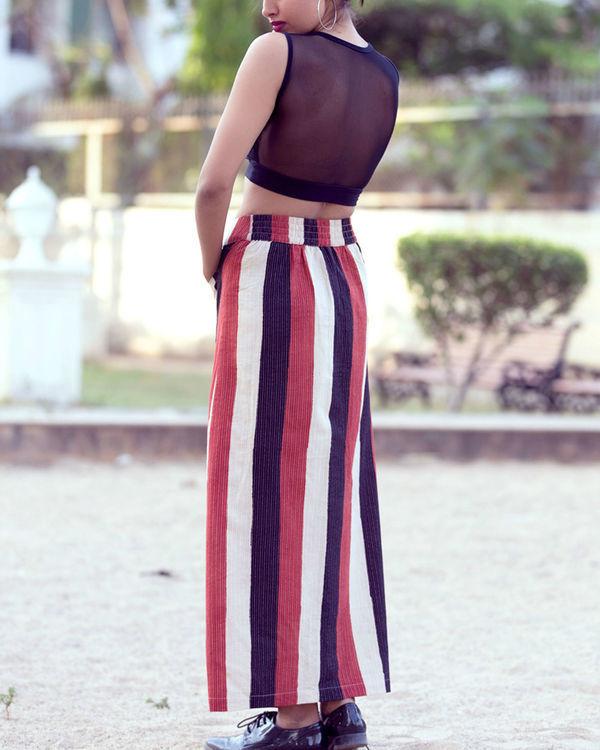 Block printed tube skirt 1