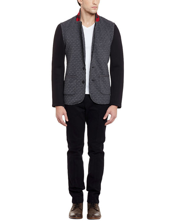 Grey unlined summer blazer 1