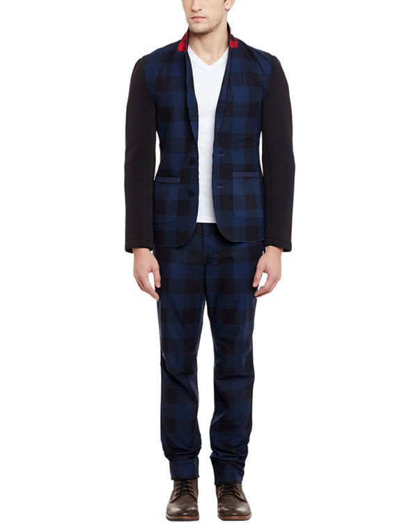 Checkered unlined summer blazer 1