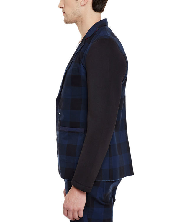 Checkered unlined summer blazer 2