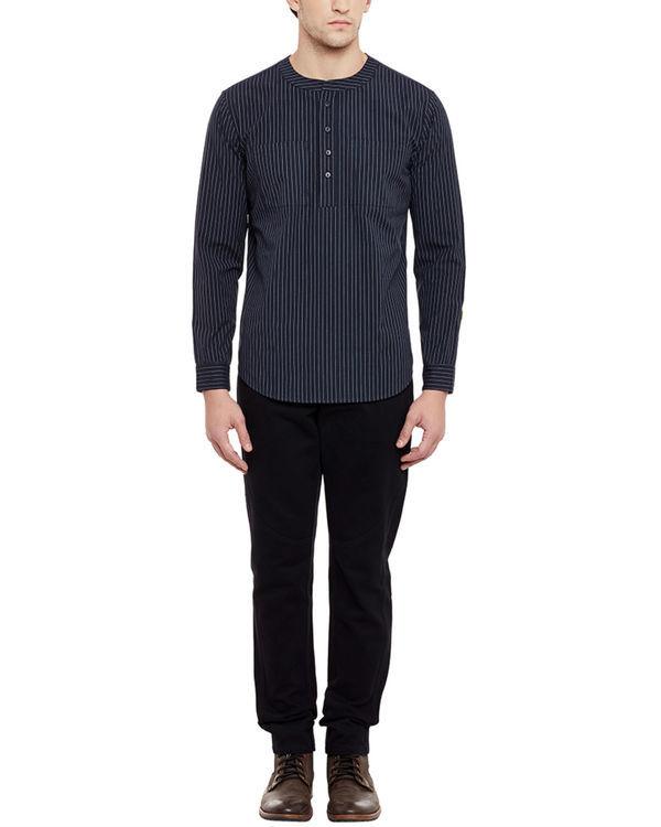 Pin stripe henley shirt 3