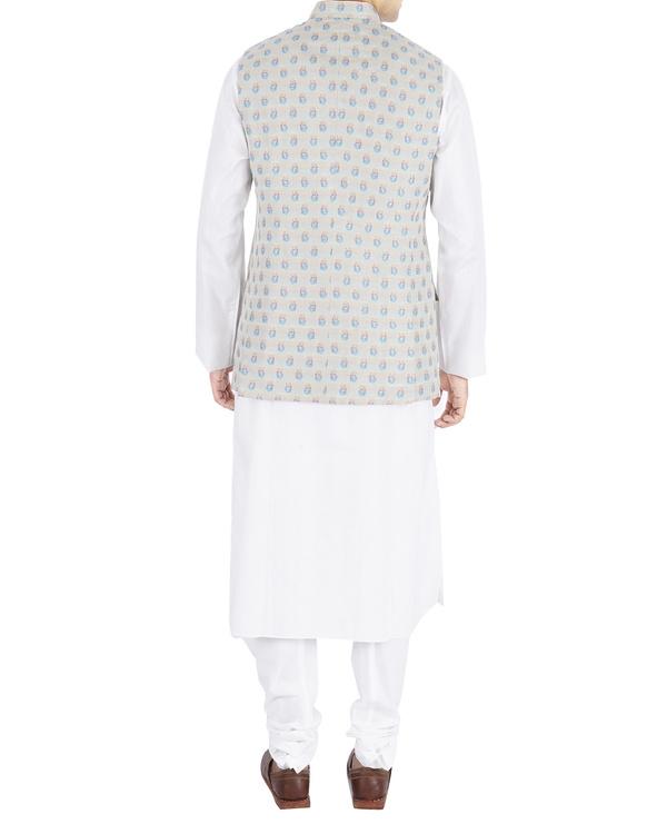 Silk brocade nehru jacket 1