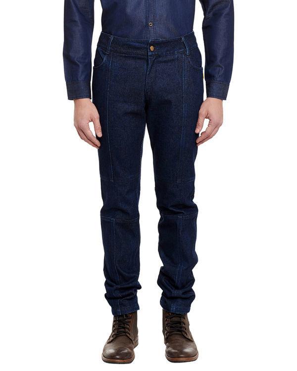 3d fit raw denim straight jeans 1