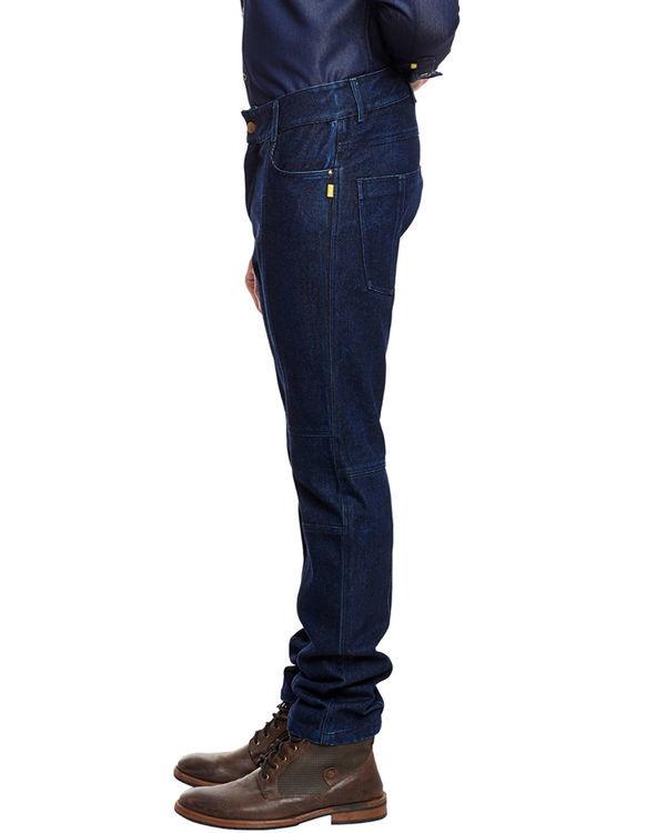 3d fit raw denim straight jeans 2