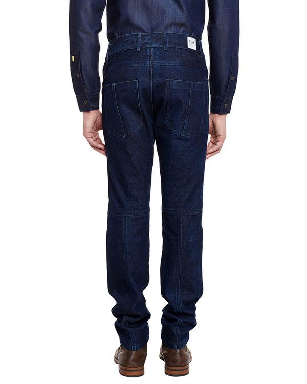 3d fit raw denim straight jeans 3