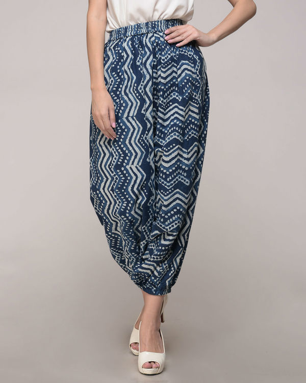 Dabu printed chevron harem pants 1