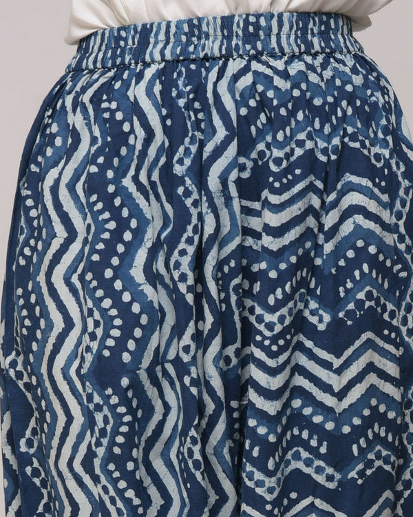 Dabu printed chevron harem pants 2