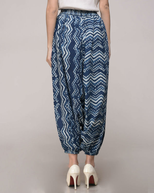 Dabu printed chevron harem pants 3