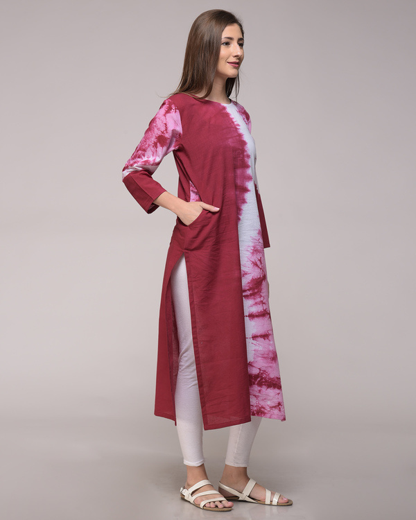 Maroon wave tunic 1