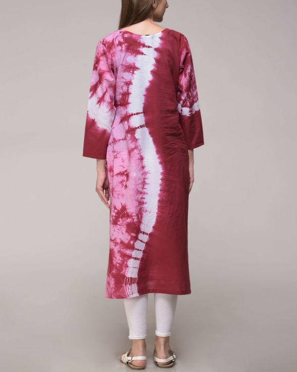 Maroon wave tunic 3