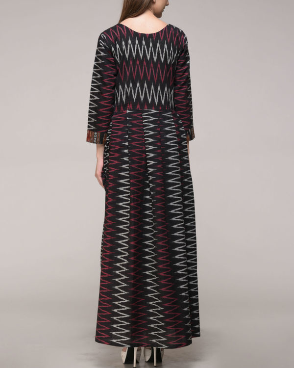 Chevron ikat pleated dress 2