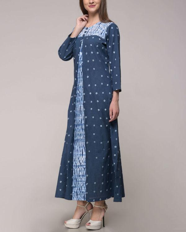 Shibori tie dye pleated dress 1