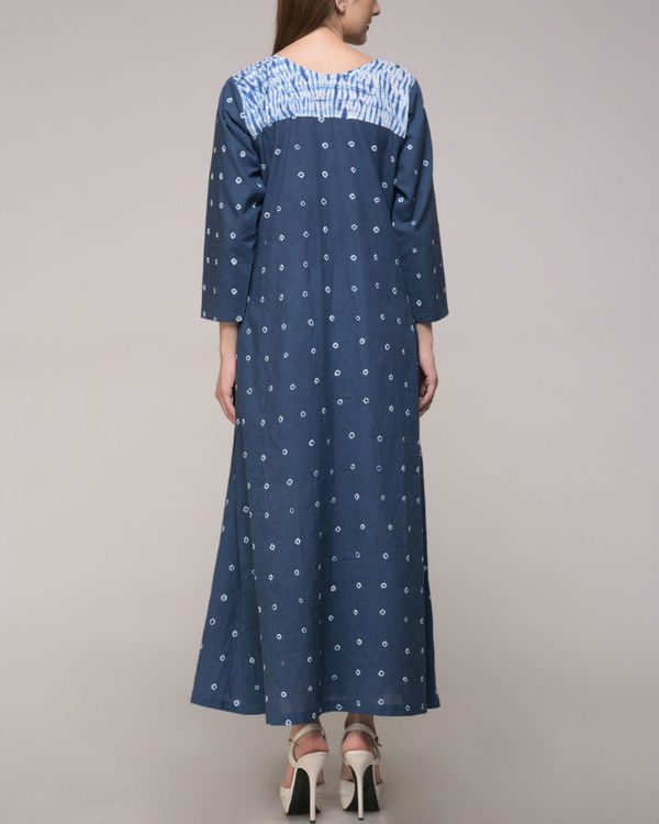 Shibori tie dye pleated dress 2