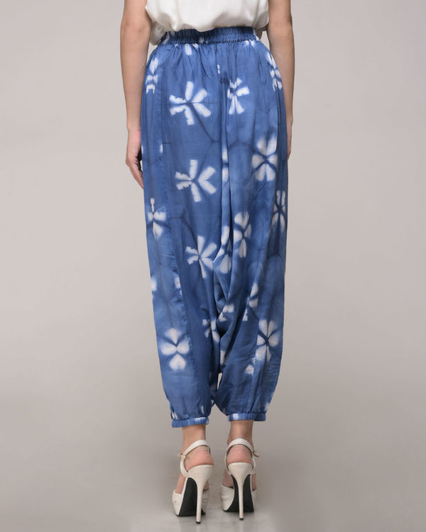 Clamp dyed floral harem pants 2