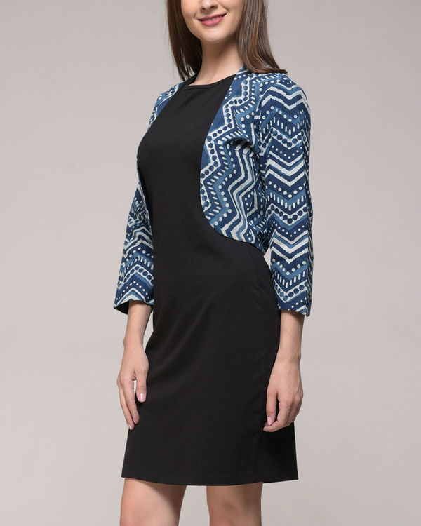 Chevron printed shrug 2