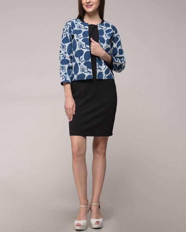 Indigo printed floral jacket 1