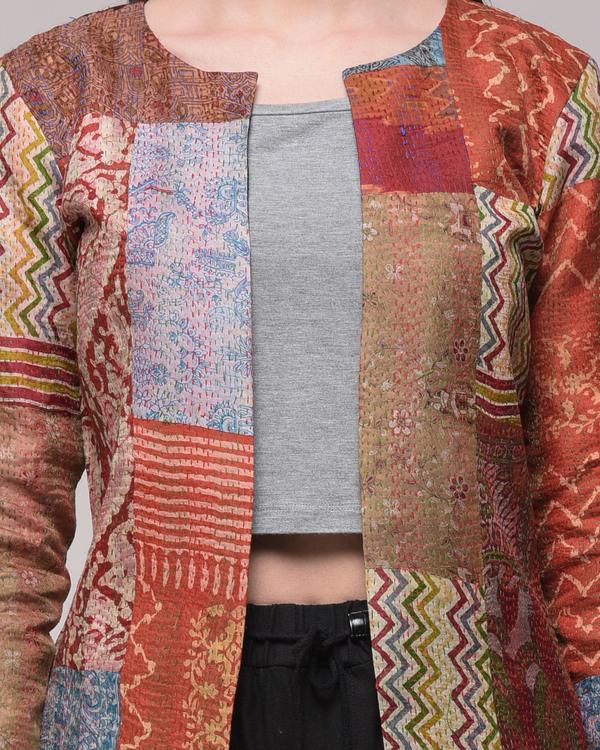 Vintage silk kantha jacket 2