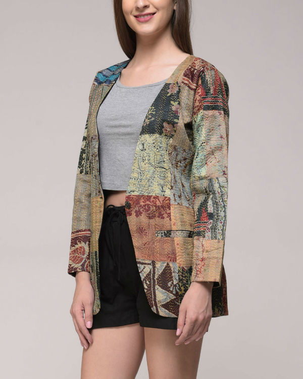 Patched kantha jacket 1