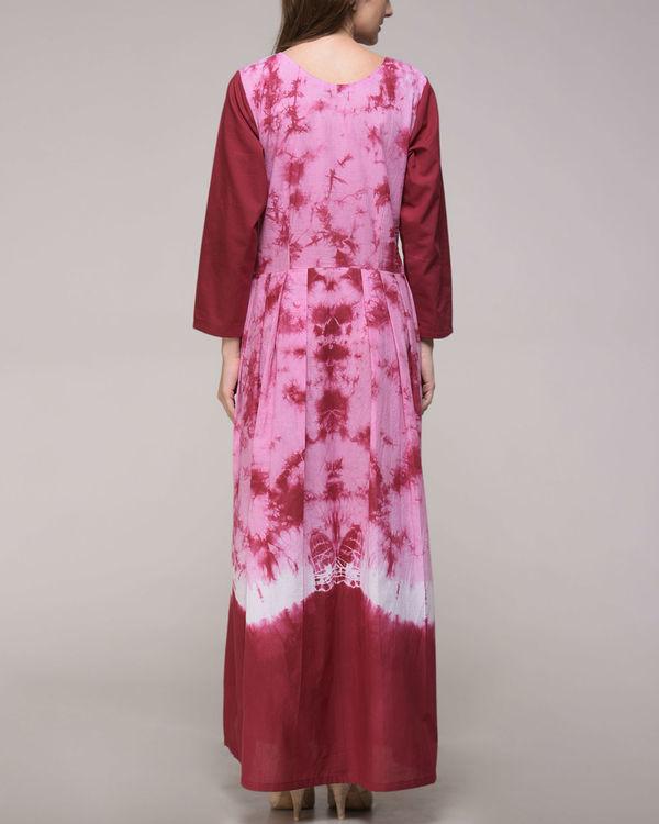 Maroon tie dye dress 1