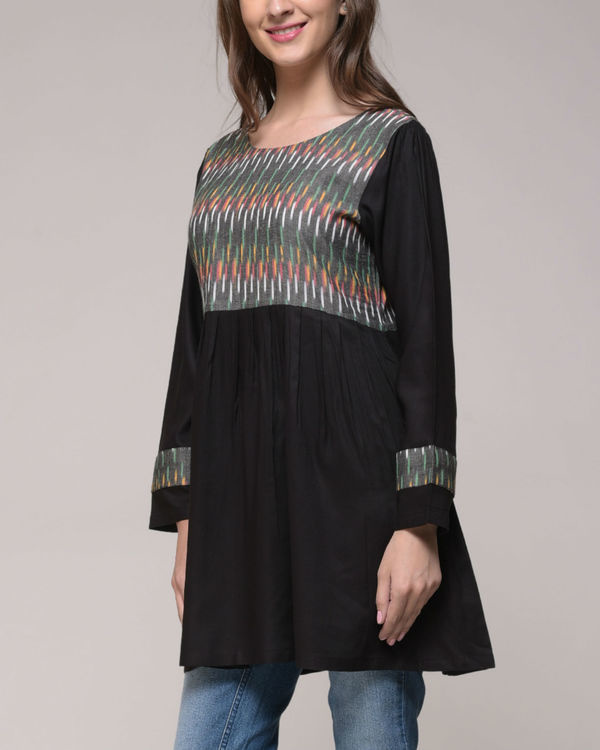 Ikat yoke gathered top 1