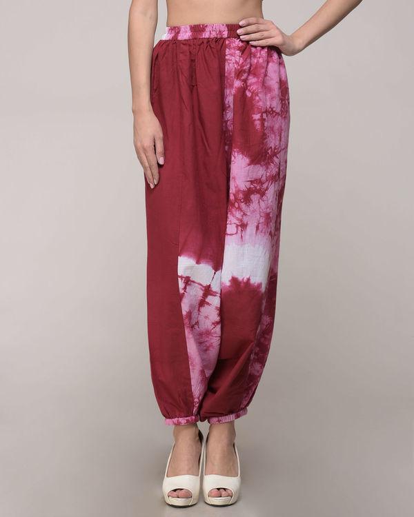Maroon tie dye harem pants 1
