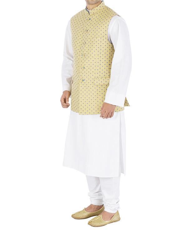 Silk brocade nehru jacket 2