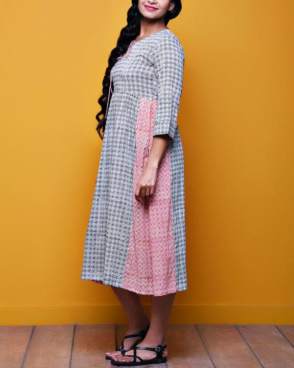 Checkered tasseled dress 1