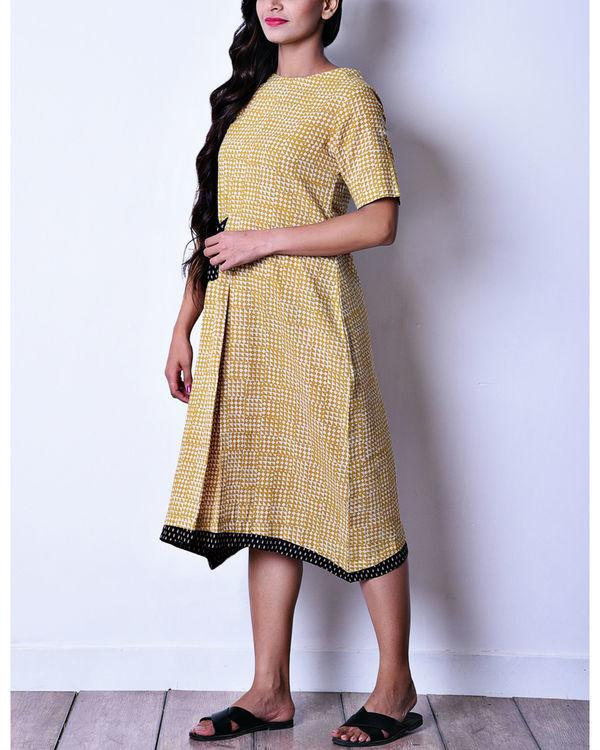 Mustard patch pocket dress 1