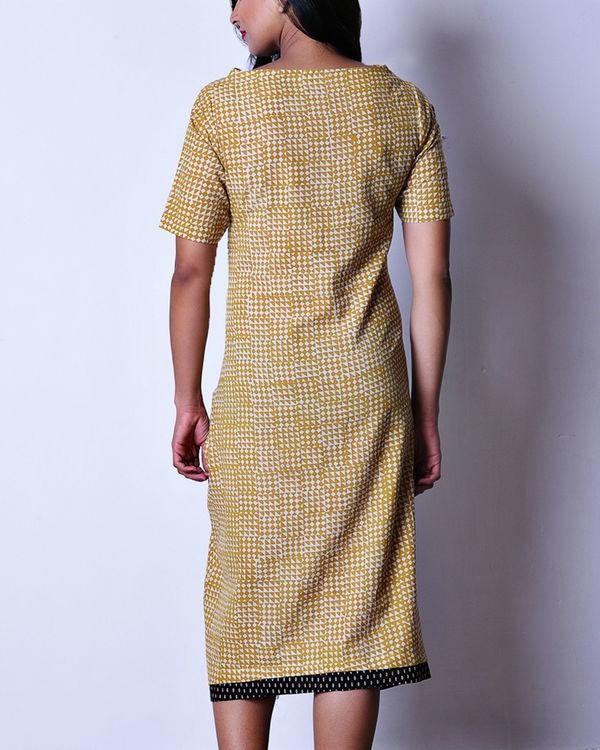 Mustard patch pocket dress 2